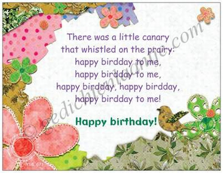 Gedichtkaart YML 671: Happy birthday!