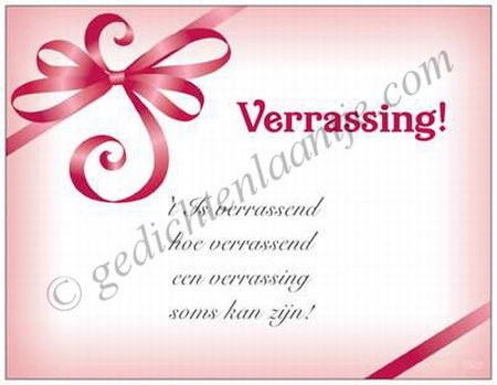 Gedichtkaart YML 1328: Verrassing!
