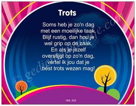 Gedichtkaart YML 505: Trots