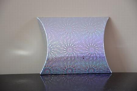 Cadeaudoosje mini, zilver met holografische print zon