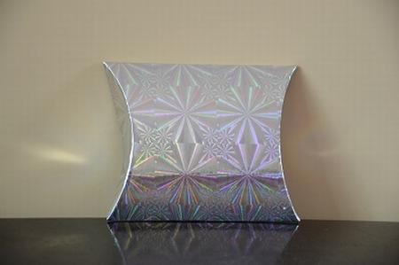 Cadeaudoosje mini, zilver holografische print