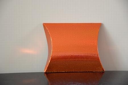 Cadeaudoosje mini, koperkleur holografische print
