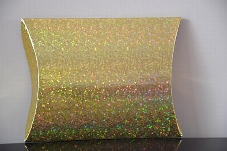 Cadeaudoosje medium, holografische print, goud