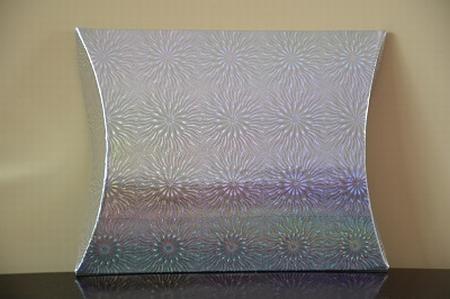 Cadeaudoosje medium, holografische print zilver zon