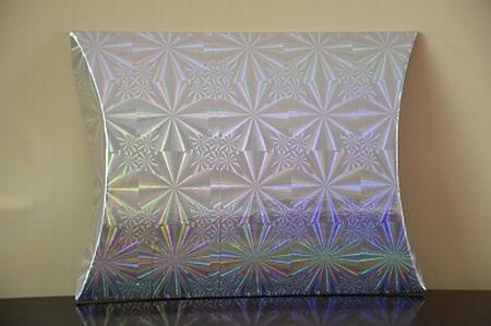 Cadeaudoosje medium, holografische print, zilver