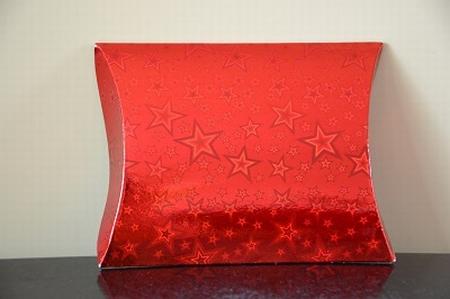 Cadeaudoosje medium, holografische print rood ster