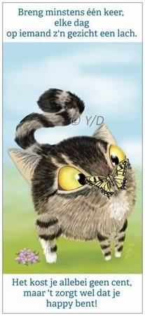 Boekenleggerkaart Y/D 005: Happy