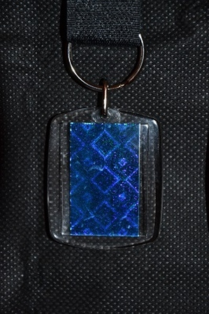 Sleutelhanger Reflections: Blauwe ruit