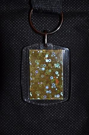 Sleutelhanger Reflections: Goud glitter
