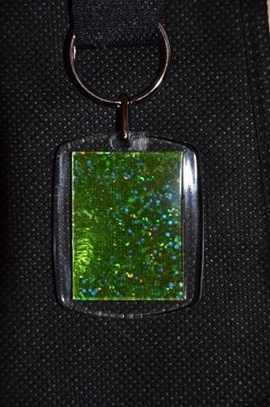 Sleutelhanger Reflections: Groen glitter
