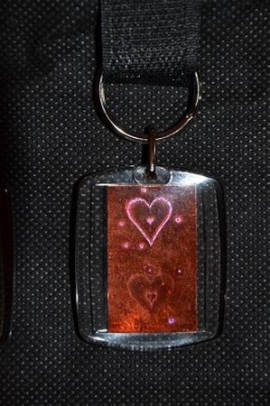 Sleutelhanger Reflections: Koper hart